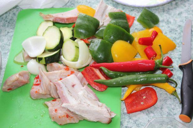 Grillowane szaszłyki mięsno-warzywane