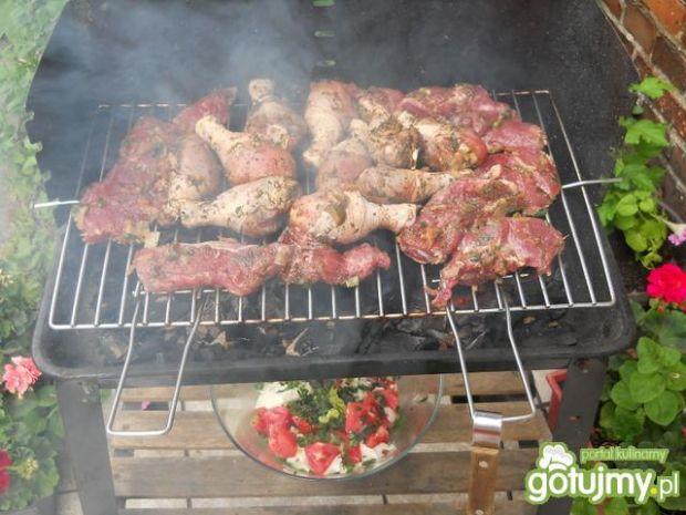 Grillowany kurczak i karkówka