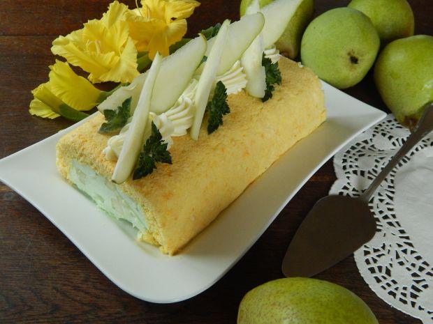 Gruszkowe ciasto charlotte