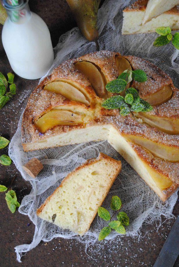 Gruszkowe ciasto z mascarpone