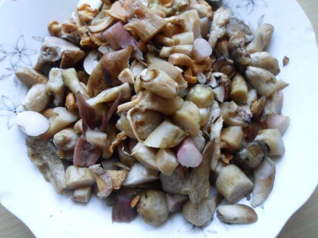 Gulasz mięsny ze świeżymi grzybami