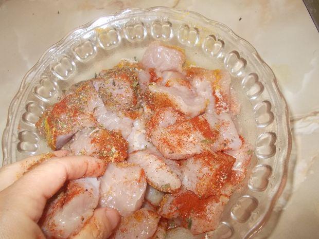 Gulasz z fileta indyka w sosie pomidorowym