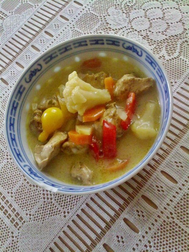 Gulasz z kurczakiem i warzywami