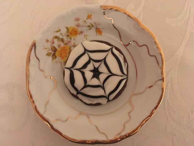 """Halloweenowe ciasteczka """"Pajączki"""""""