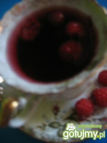 Herbata malinowa z cukrem