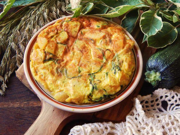 Hiszpański omlet ziemniaczany z cukinią