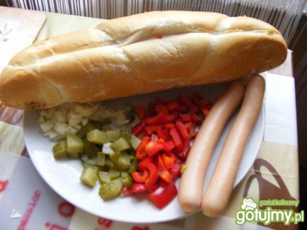 Hot - dog z warzywami