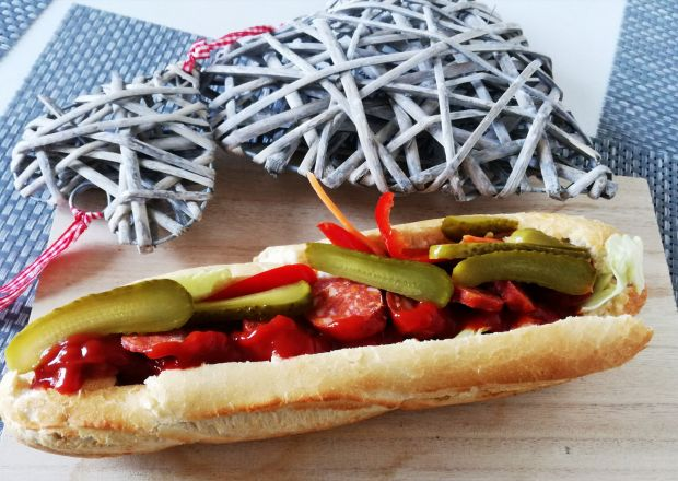 Idealna kanapka  z chorizo i warzywami