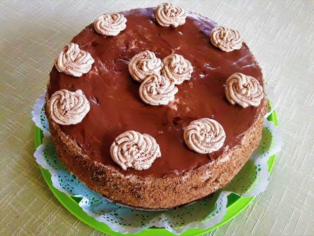 Imieninowy tort orzechowo - czekoladowo - kawowy