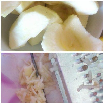 Jabłka pod cynamonową kruszonką z orzechami