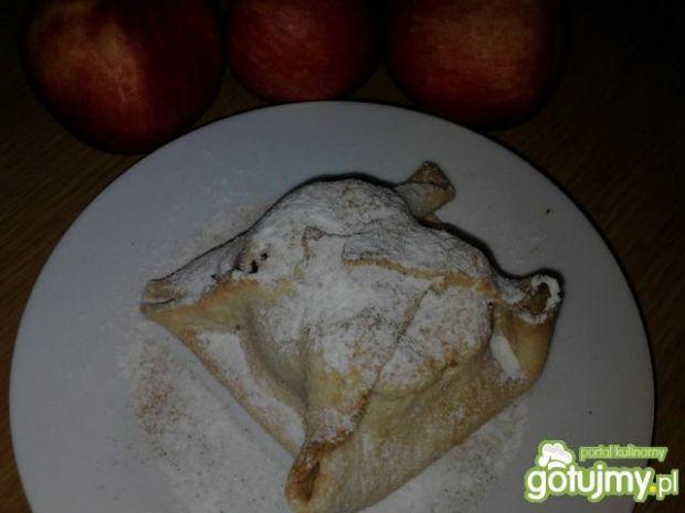 Jabłka z aronią w szlafrokach