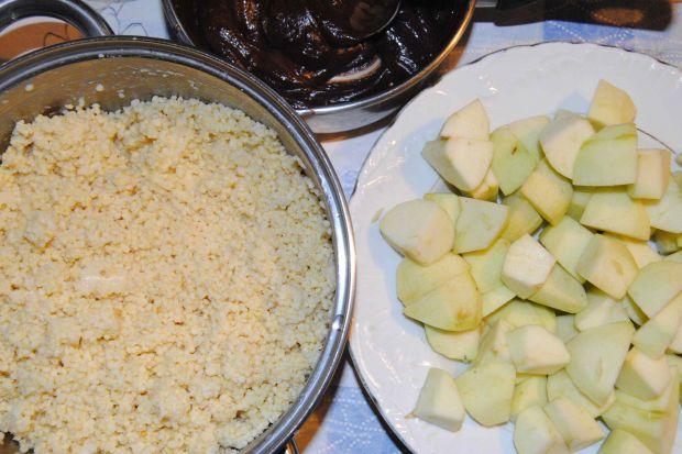 Jaglane brownie z jabłkami