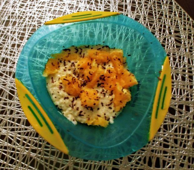 Jaglanka z pomarańczą, bananem i czekoladą