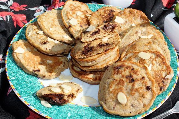 Jaglano-orzechowe placuszki z otrębami i czekoladą