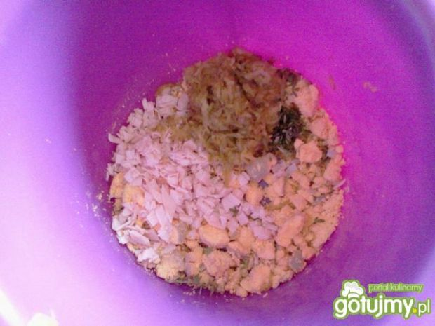 Jaja faszerowane ogórkiem kons. i szynką