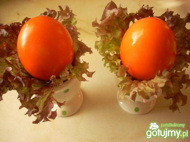 Jajeczka pomidorowo - serowe