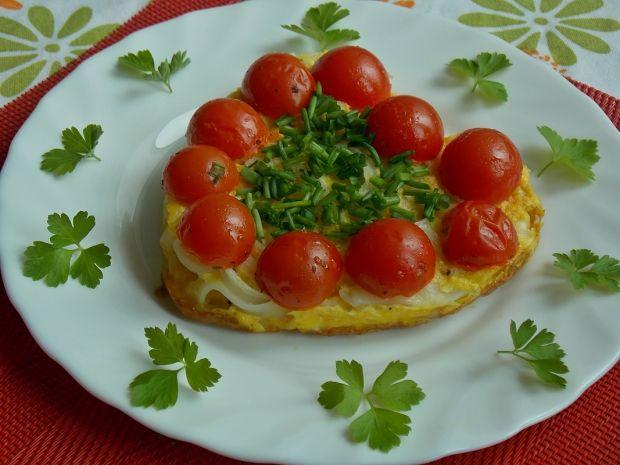 Jajecznica z makaronem ryżowym