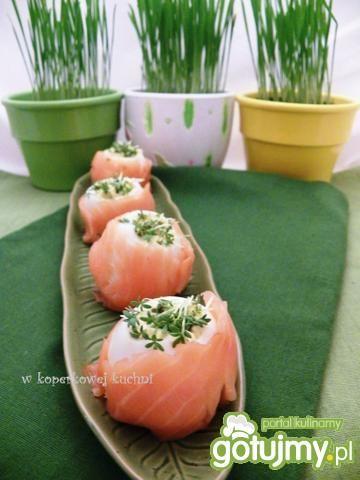 Jajka faszerowane kaparami