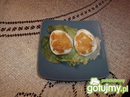 Jajka faszerowane łososiem haliny