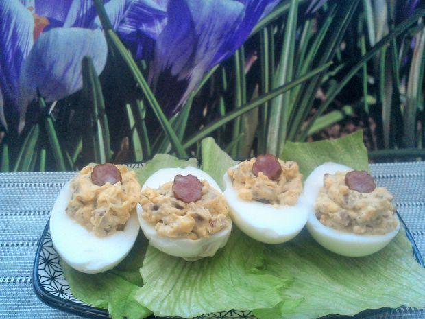 Jajka faszerowane z kabanosem