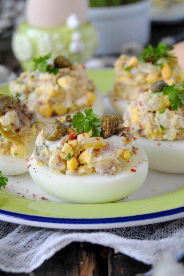 Jajka nadziewane makrelą