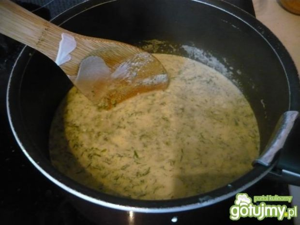Jajka w sosie koperkowym 6