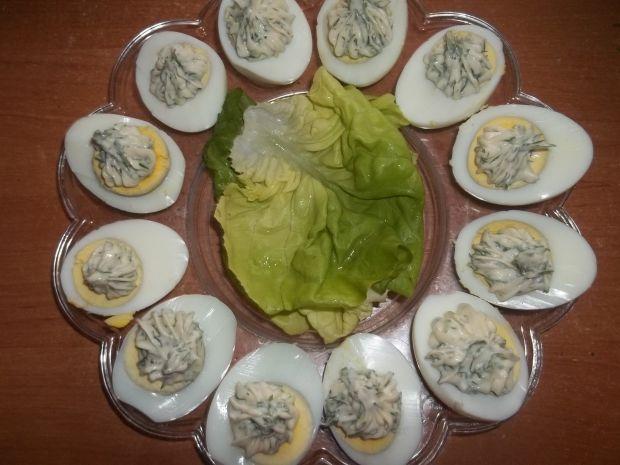 Jajka z majonezem i koperkiem