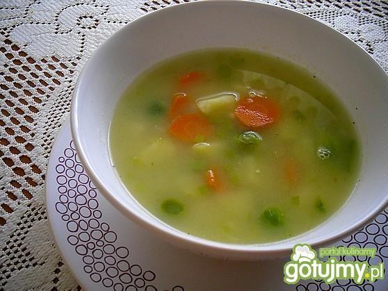 Jarzynowa zupa z kaszą jaglaną