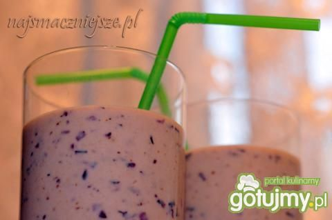 Jogurt bananowo-borówkowy