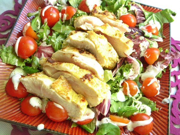 Jogurtowo-cytrynowa grillowana pierś z kurczaka