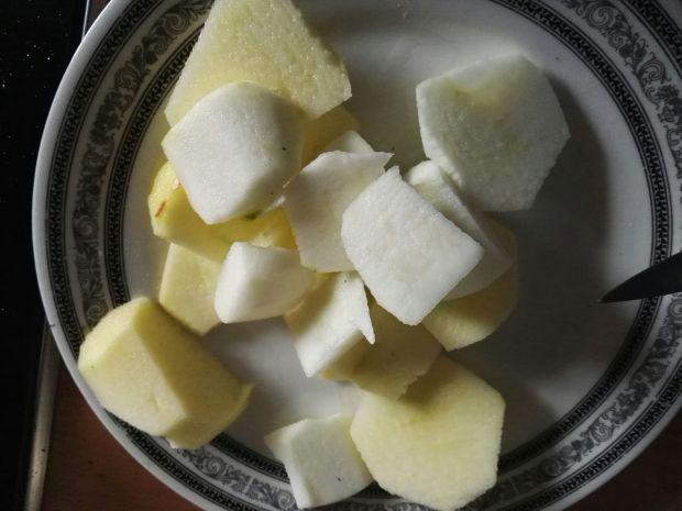 Kacze udka pieczone w cydrze, z jabłkami