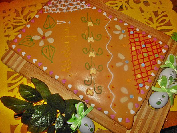 Kajmakowy mazurek z dżemem brzoskwiniowym