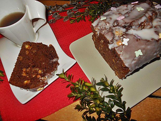 Kakaowa babka z białą czekoladą