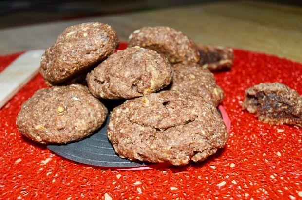 Kakaowe ciastka z kaszą manną