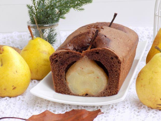 Kakaowe ciasto z gruszką