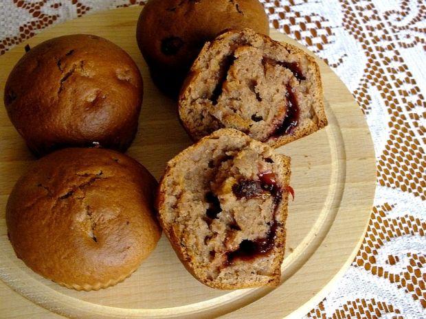 Kakaowe muffinki z powidłami