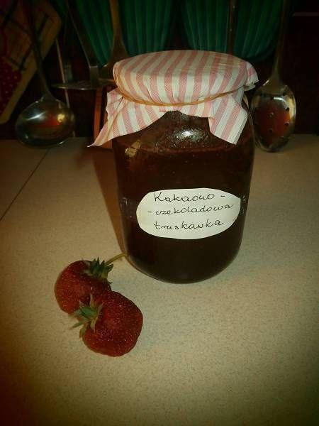 Kakaowo-czekoladowa truskawka do słoika