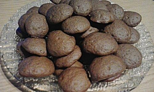 Kakaowo- kawowe ciasteczka z dżemem