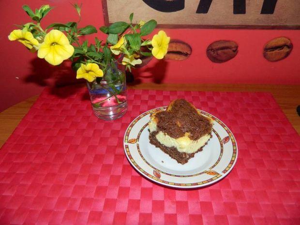 Kakaowo - serowe ciasto