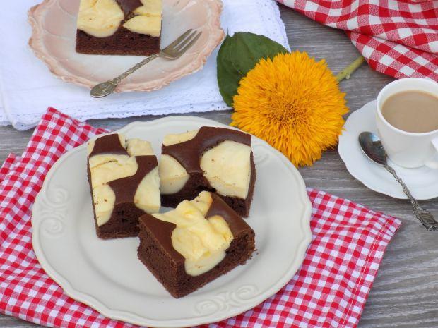 Kakaowo-serowe ciasto
