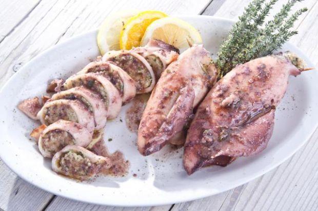 Kalmary nadziewane mięsem