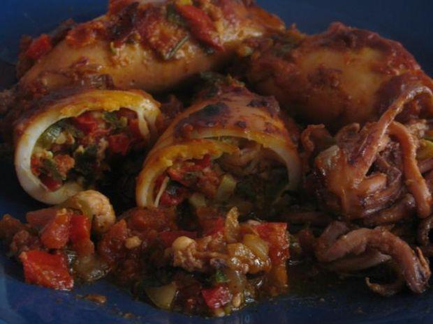 Kalmary nadziewane warzywami
