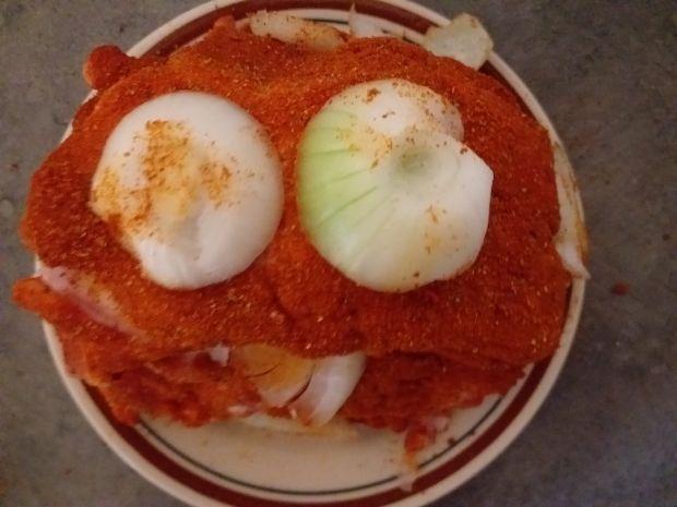 Karkówka duszona w sosie własnym z grzybami
