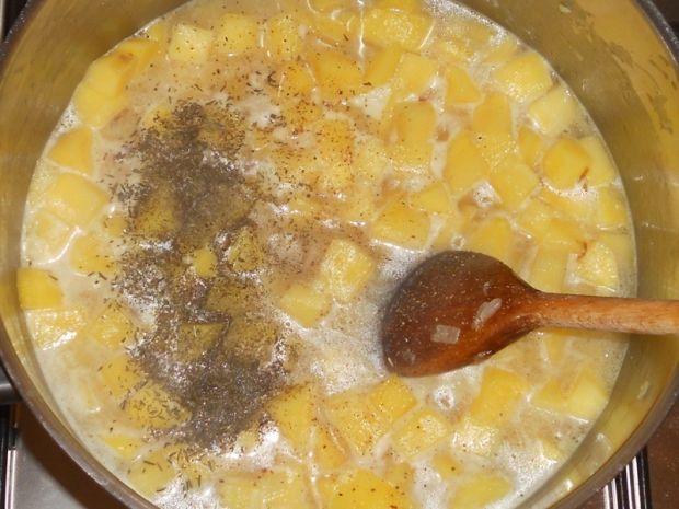 Kartoflanka z pieczonym jabłkiem i fenkułem