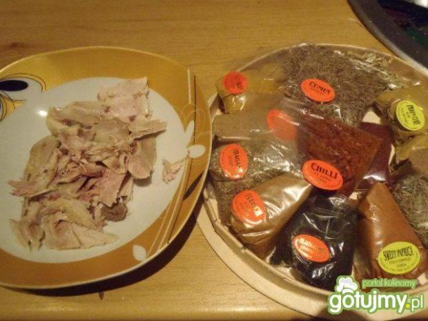 Kąski kurczaka dobrze doprawione