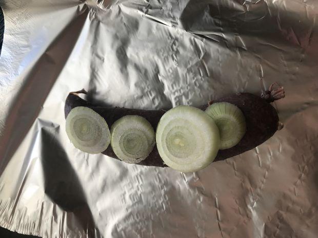 Kaszanka z wątrobą z grilla
