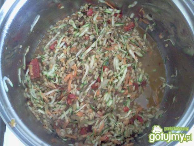 Kaszatto z warzywami i indykiem