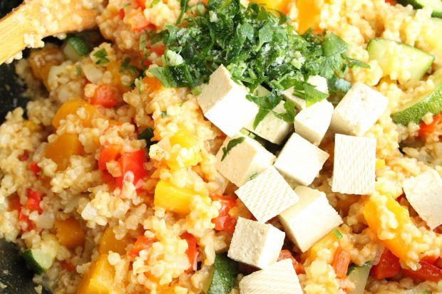 Kaszotto z dynią i tofu