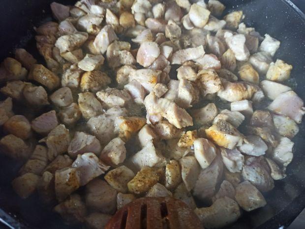 Kaszotto z kurczakiem i botwinką