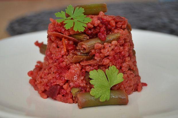 Kaszotto z warzywami (papryka, burak, fasolka)